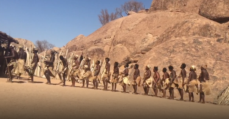 The Damara people in Namibia