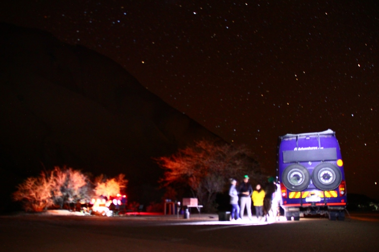 Night in Spitzkoppe
