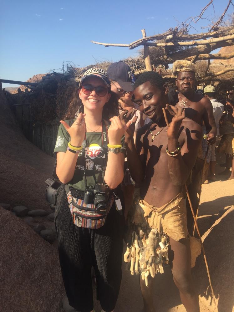 The Damara people in Namibia