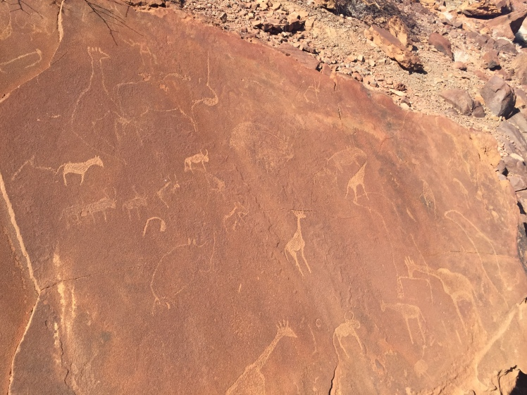 Rock engravings in Twyfelfontein - Namibia's first World Heritage Site