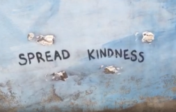 """Street Art! """"Spread kindness"""""""