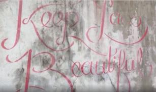 """Street Art! """"Keep Laos Beautiful"""""""