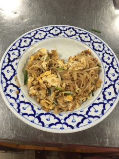 I made my pad Thai into a heart shape, as the following day was Valentine's Day!