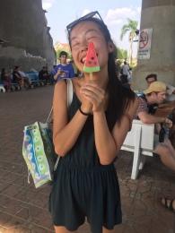 Watermelon ice cream makes everybody happy!