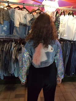 A sparkly unicorn jacket I came across in one of Vientiane's night markets and loved! (It was so expensive, but I managed to find it online and later got it as a birthday present!)